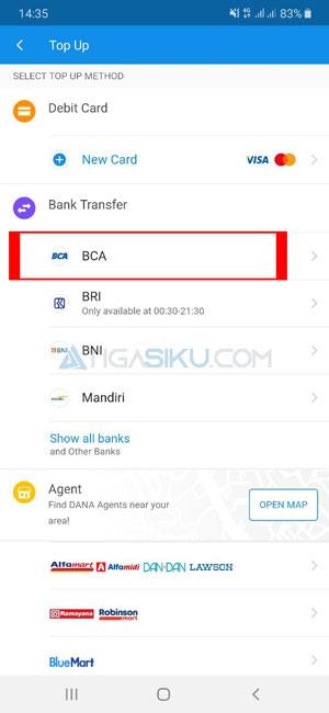 Pilih Bank BCA