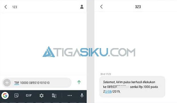 Transfer Pulsa Lewat SMS