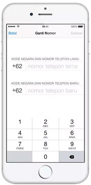 Ganti No WA tanpa Menghilangkan Chat di HP iOS