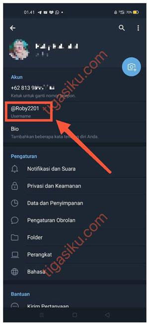 ID Telegram Terlihat 1