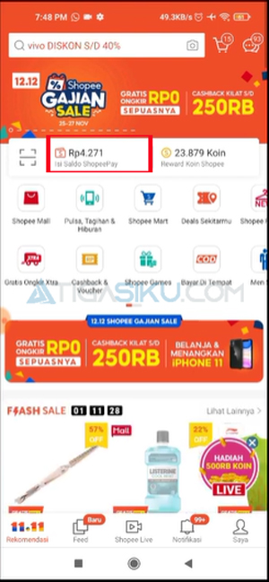 Masuk Aplikasi ShopeePay