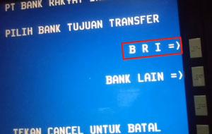 Pilih Bank Tujuan