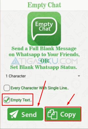 Cara Kirim Pesan Kosong di WA Menggunakan Aplikasi Empty Chat