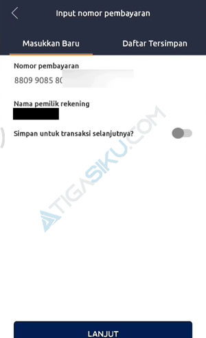 Cek Informasi Nomor Pembayaran