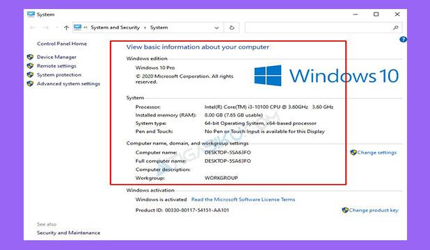 Informasi Spesifikasi Laptop Terlihat