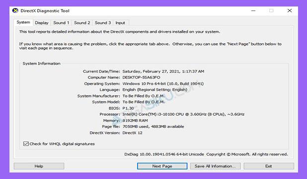 Informasi Spesifikasi Laptop