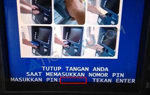 Masukkan Kartu ATM dan PIN
