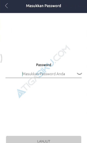 Masukkan Password M Banking BRI