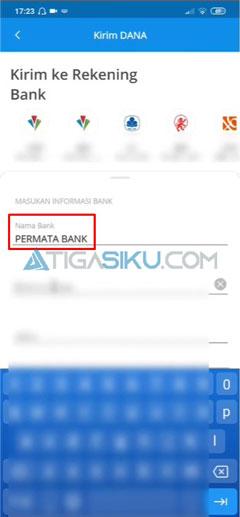 Masukkan Nama Bank
