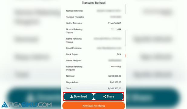 Cara Cetak Bukti Transfer BNI Mobile