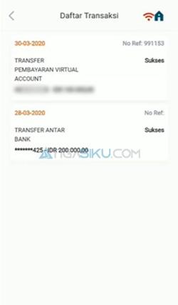 Cari Bukti Transfer BNI Mobile