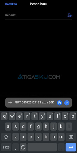 Ketik Format SMS
