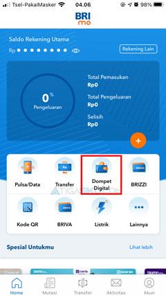 Pilih Menu Dompet Digital