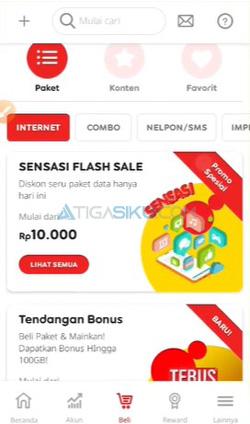 Pilih Paket Data Indosat