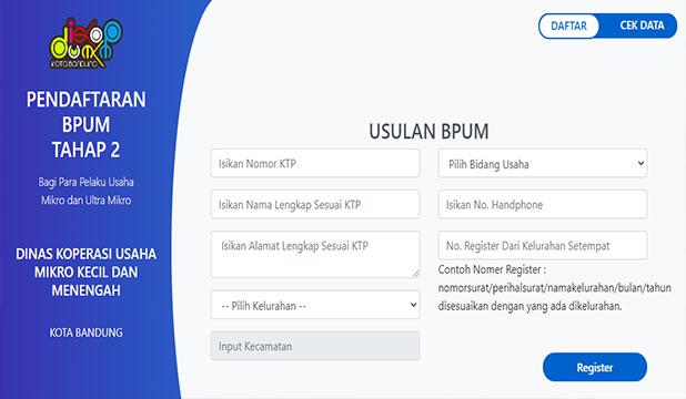 Link Pendaftaran BPUM