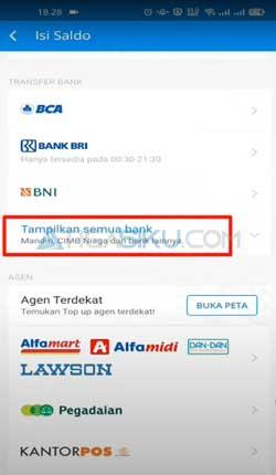 Klik Tampilkan Semua Bank