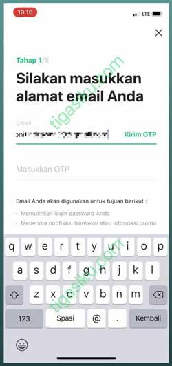 Masukkan Alamat Email Kode OTP