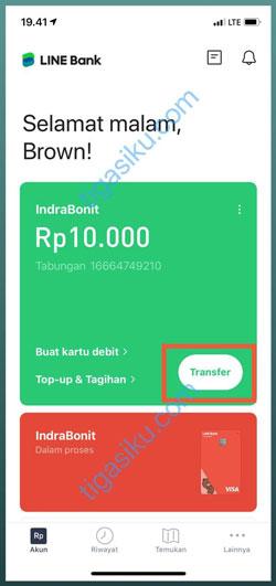 Pilih Menu Transfer 1
