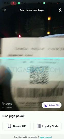 Scan Barcode Tiket Parkir