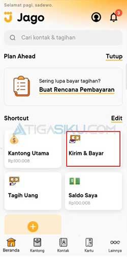 Buka Aplikasi Bank Jago