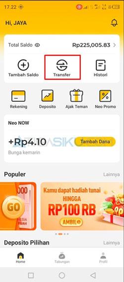 Buka Aplikasi Neo