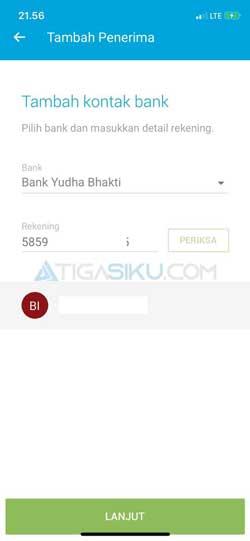 Masukkan Informasi Bank