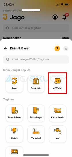 Pilih E-Wallet