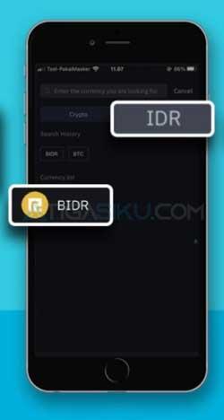 Pilih IDR