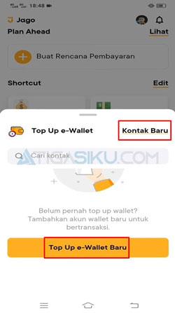 Pilih Top Up E Wallet Baru