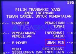 Pilih Ubah PIN