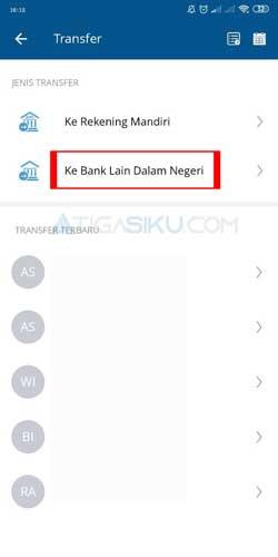Pilih ke Bank Lain Dalam Negeri