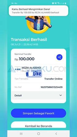 Transfer BLU BCA ke Bank Lain Selesai