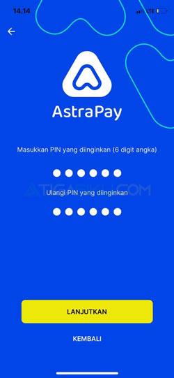 Buat PIN AstraPay