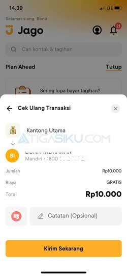 Cek Ulang Transaksi 1