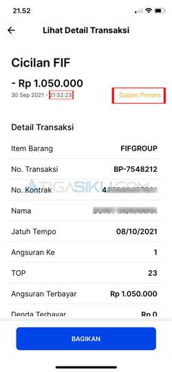 Detail Transaksi Pembayaran
