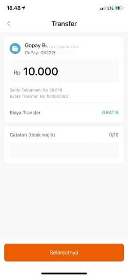 Masukkan Jumlah Transfer 2