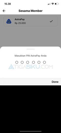 Masukkan PIN AstraPay 1
