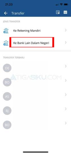 Pilih Transfer Bank Lain